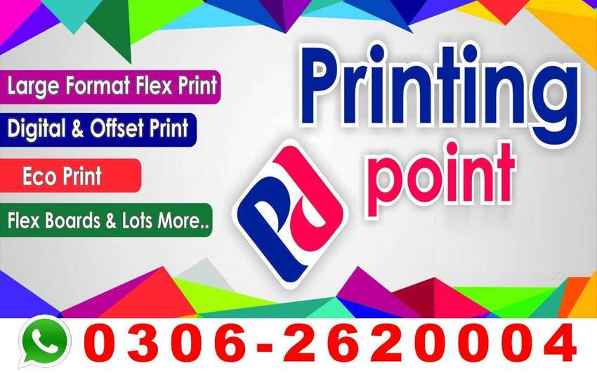 Digital Pen Printing Standee Panaflex Tag Lables Boxes Brochure flyers 0
