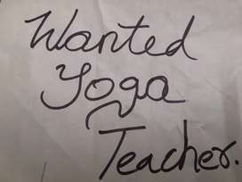 Wanted lady yoga trainer