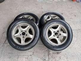 Velg Oem Hyundai Trajet R15 + Ban 195/65/15 pcd 5x114 murah