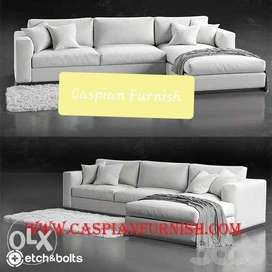 31. New rich sofa in white finish