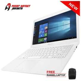 """Kredit Laptop Asus E402YA White/AMD E2-7015/14.0"""" HD/4GB, 1TB/Win 10"""