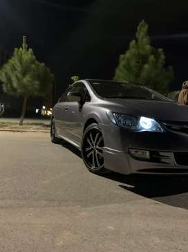 Honda civic staggered alloy rims and tires 18