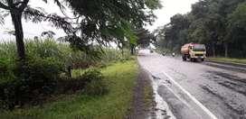 Tanah pinggir jalan raya saradan