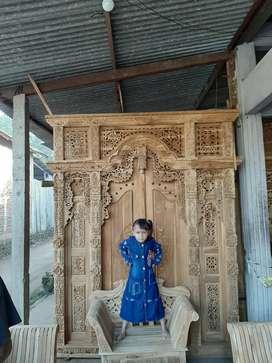 Cuci Gudang Pintu Gebyok Style Jawa Dan Bali 2 2.5 dan 3 meter sarmi