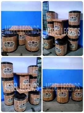 Kursi tong motif kayu asli cat di lukis