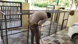 Dog cage new. Long. 12+4+4..