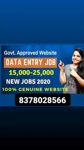 Data entry work with every day payments in bank account