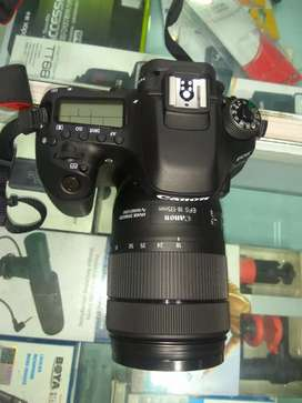 Conon 80d camera 18 to 135 nd 50mm lens.nd flash camera with wifi