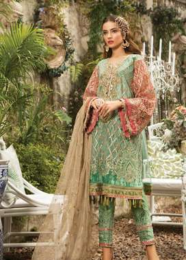 Maria B Party wear Dress with elagant and beautiful Embroidery