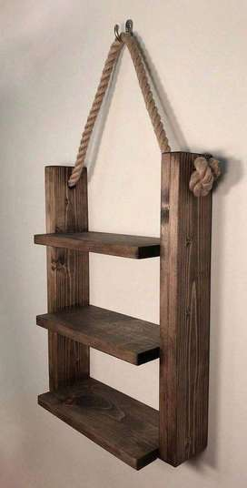 Pair of two Rustic Ladder Shelf
