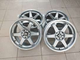 velg second concave murah te37 tokyo ring17x75/9 pcd4x100-114,3 silver