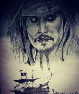 wall panting Pirates of the Caribbean