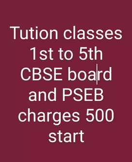 Tution classes for 1st to 5th class students