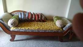 Beds and couch, show case