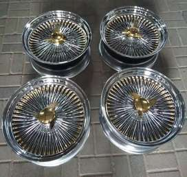 VELG MOBIL CLASSIC TIPE WIRE WHEELS DS78 FWD HSR R16X8 H12 CRHOME