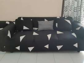 Kursi sofa L besar 3 seat empuk