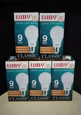 PROMO-BOHLAM LAMPU LED LUBY CLASSIC 9WATT CAHAYA PUTIH-AWET