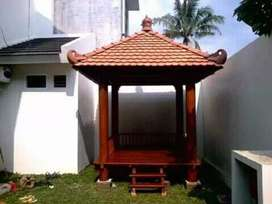 Gazebo kayu kelapa 2x2m