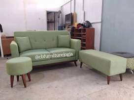 Sofa Tamu Rangka Bawah Jati, banyak pilihan warna