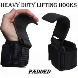Power Weight Lifting Hooks For Bar Wrist Support