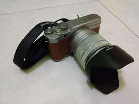 Kamera Mirrorless Fujifilm X-A10 Warna Cokelat Fullset