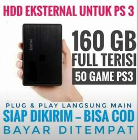 HDD 160GB Mrh Mantap BONUS FULL 50 GAME GAME FAVORITE PS3