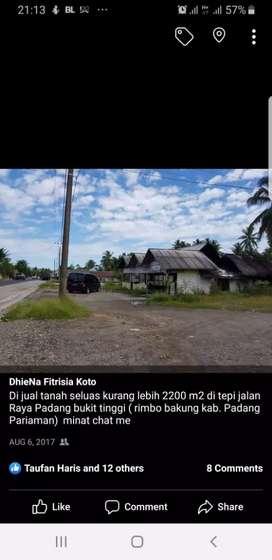 Jual tanah strategis area jln raya Padang bukit tinggi