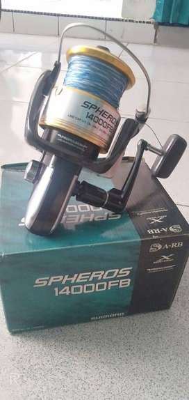 Katrol mancing Shimano spheros 14000fb