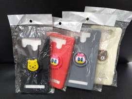 softcase universal +pop socket karakter soft case casing hp-sinar kita