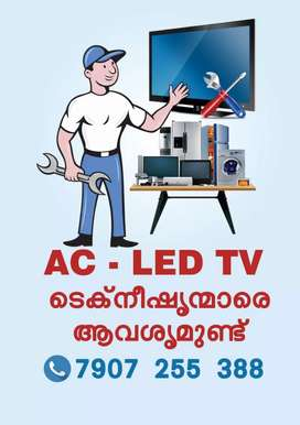 AC LED TV Installation and Service Technicians Required