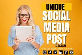 I Will design Social Media post and account Management