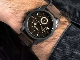 Premium fossil leather watch CASH ON DELIVERY price negotiable hurry