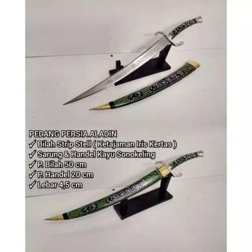 Pedang Arab Persia Aladin Kaligrafi Tajam dan Murah