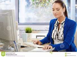Wanted receptionist female