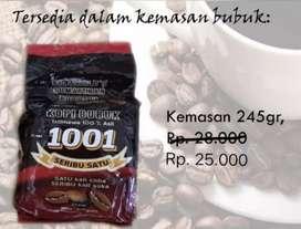 Kami menjual KOPI bubuk 1001 kemasana 245gr, asli dari Bengkulu