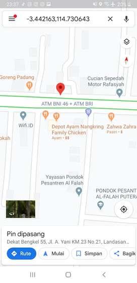 Strategis pinggir jalan besar 2 jalur KM 23