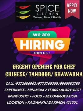 Pavbhaji chef & Shwarma chef
