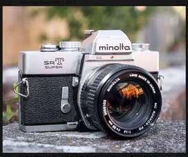 Minolta SRT Super Camera with accessories