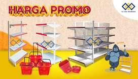 Jual Rak Supermarket Murah dan Kuat Rak Toko Rak Minimarket