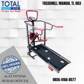 Alat Fitness Treadmill MANUAL TL003 TANPA LISTRIK