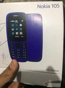 Nokia 105 new model with box and chrgr