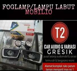 LAMPU FOGLAMP/LAMPU KABUT FOR MOBILIO BAHAN KACA & AWET GAESS GROSIR