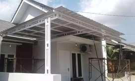Pembuatan kanopi untuk teras dan carport rumah minimalis