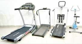 Treadmills manual walkers fitness gym cycles going for Rs.4950