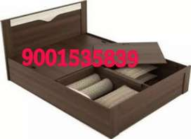New 6by6 full size storage boxes wooden double bed
