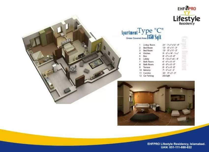 Life style Residency. C type Flat first floor 0