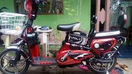 Dijual sepeda listrik merk Vita-T,kondisi bagus plus carger