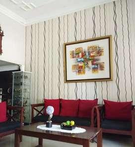 Wallpaper hiasan dinding tampil mewah dan elegan