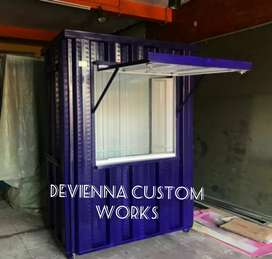 Booth usaha roda dagang booth Container coffee shop booth jualan