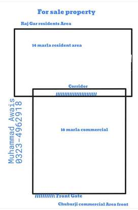 16 Marla  Commercial 14 Marla residential  for sale in chuburji